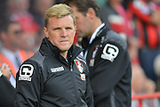 Bournemouth Manager Eddie Howe during the Barclays Premier League match between Bournemouth and Watford at the Goldsands Stadium, Bournemouth, England on 3 October 2015. Photo by Mark Davies.