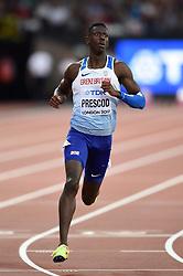 Reece Prescod of Great Britain in action - Mandatory byline: Patrick Khachfe/JMP - 07966 386802 - 04/08/2017 - ATHLETICS - London Stadium - London, England - Men's 100m Round 1 - IAAF World Championships