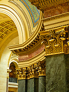 Interior view of the Wisconsin State Capitol Building, Madison, Wisconsin, USA.