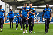 Forest Green Rovers Omar Bugiel(11) and Forest Green Rovers Jordan Simpson(12) during the EFL Sky Bet League 2 match between Colchester United and Forest Green Rovers at the Weston Homes Community Stadium, Colchester, England on 26 August 2017. Photo by Shane Healey.