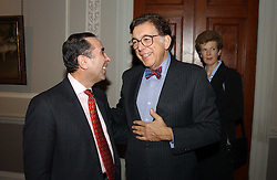 A reception to celebrate the arrival of Deborah Swallow as Director of the Courtauld Institute of Art was held at Somerset House, Strand, London on 9th December 2004.<br />Picture shows:- Left to right, DAVID KHALILI and NORMAN KURLAN
