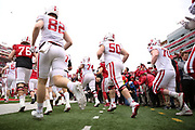 Players take the field for the Nebraska Huskers Spring Game on April 21, 2018. Photo by Ryan Loco.