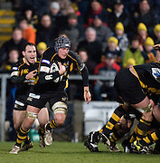 Wycombe, GREAT BRITAIN,   Wasps' No8, John HART playing of the back of the scrum, during the Guinness Premiership rugby game, London Wasps vs Leicester Tigers at Adam's Park Stadium, Bucks, England, on Sun 15.02.2009. [Photo, Peter Spurrier/Intersport-images]