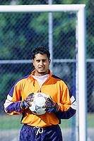 Portrait of a soccer goalie. Stock photo shoot, Seattle, Washington.