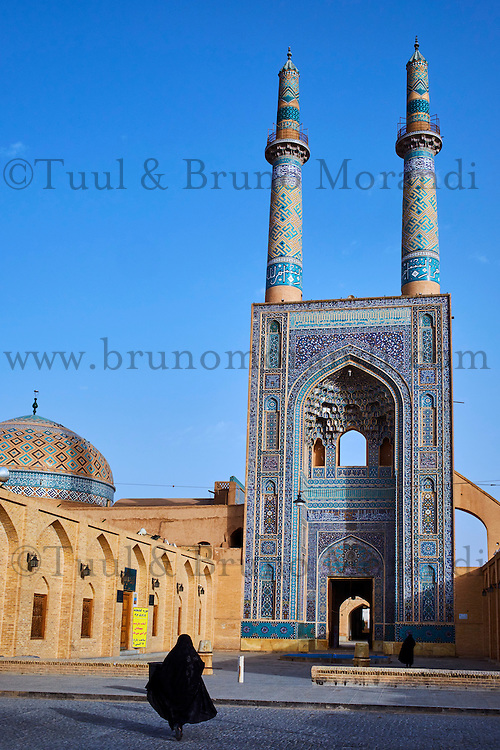 Iran, province de Yazd, Yazd, mosquée du vendredi, vue générale // Iran, Yazd province, Yazd, Friday mosque, general view