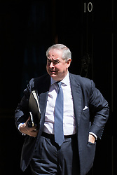 London, UK. 16 July, 2019. Geoffrey Cox QC MP, Attorney General, leaves 10 Downing Street following a Cabinet meeting.