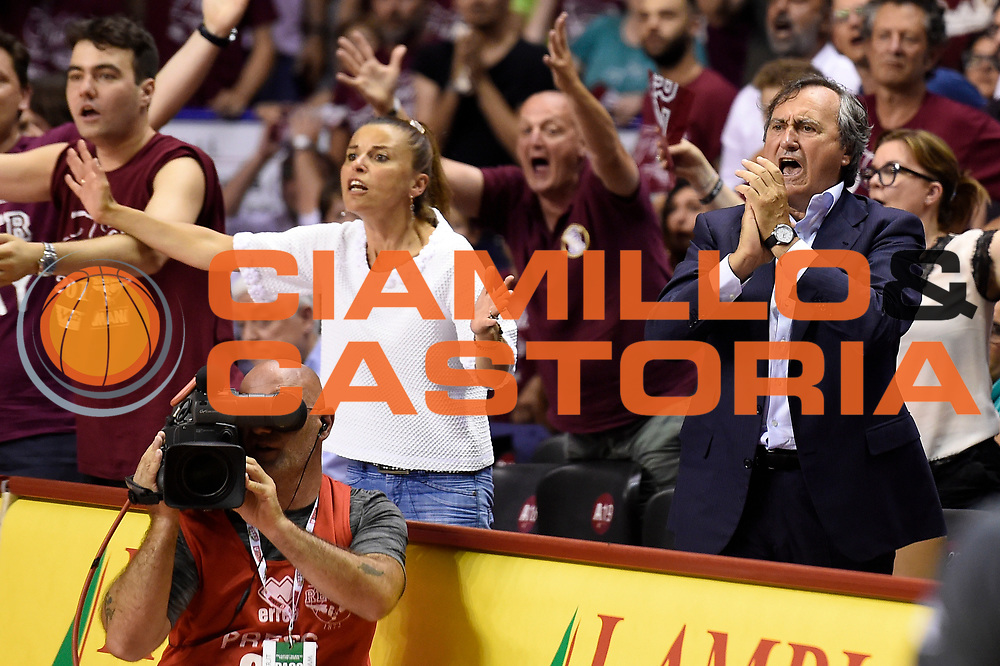 Luigi Brugnaro<br /> Umana Reyer Venezia - Dolomiti Energia Aquila Basket Trento<br /> Lega Basket Serie A 2016/2017<br /> Playoff, finale gara 2<br /> Venezia, 12/06/2017<br /> Foto M.Ceretti / Ciamillo-Castoria