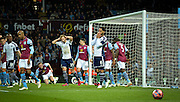 Joleon Lescott goes close for West Brom during the The FA Cup match between Aston Villa and West Bromwich Albion at Villa Park, Birmingham, England on 7 March 2015. Photo by Adam Rivers.