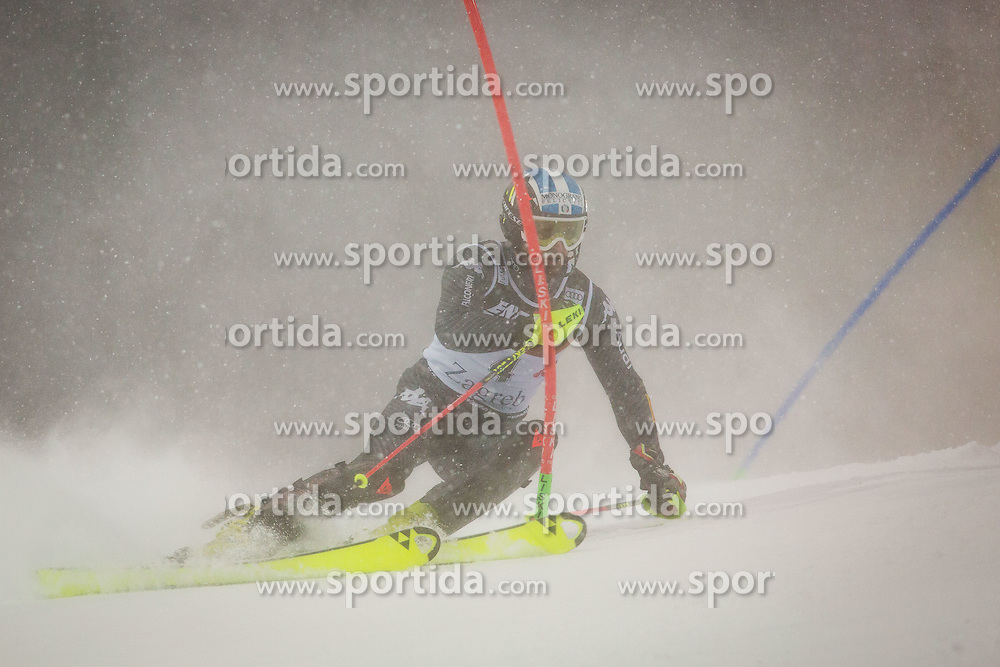 """Manfred Moelgg (ITA) during FIS Alpine Ski World Cup 2016/17 Men's Slalom race named """"Snow Queen Trophy 2017"""", on January 5, 2017 in Course Crveni Spust at Sljeme hill, Zagreb, Croatia. Photo by Ziga Zupan / Sportida"""