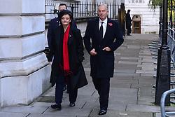 Tony Blair and Wife Cherie Blair beim Remembrance Sunday in London / 131116 *** Remembrance Sunday, London, 13 Nov 2016 ***