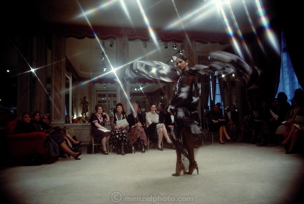 St. Laurent fashion presentation. Paris, France.