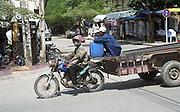 Motorbike in Phnom Penh, Cambodia.