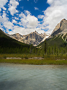 View of Emerald Lake, Yoho National Park, near Golden, British Columbia, Canada.