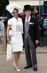 Sir Bruce Forsyth and wife  at Ladies Day at Royal Ascot 2013, Thursday, 20th June 2013<br />