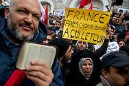© Benjamin Girette / IP3 PRESS : le 9 Fevrier 2013: Manifestation pro Ennhada avenue Habib Bourguiba, Tunis.