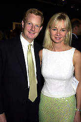 The EARL & COUNTESS OF DERBY at a party in London on 25th September 2000.OHH 129