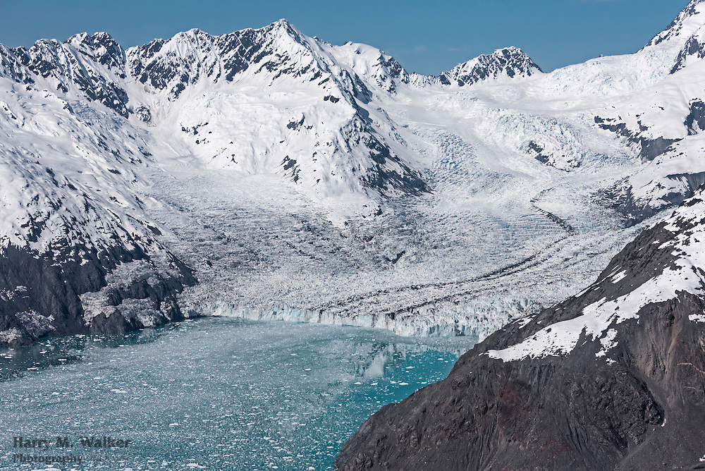 Columbia Glacier with Columbia Bay foreground; Chugach National Forest; Prince William Sound; Alaska
