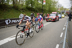 Leah Kirchmann powers up the final metres of the Cauberg at the Amstel Gold Race Ladies Edition - a 121.6 km road race between Maastricht and Valkenburg on April 16 2017 in Limburg, Netherlands.