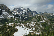 Black Peak in distance with Maple Pass in middle and foreground, North Cascades Washington
