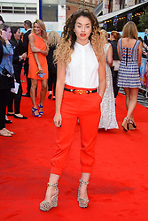 Image ©Licensed to i-Images Picture Agency. 12/08/2014. London, United Kingdom. <br /> Ella Eyre attends the What If - UK film premiere. Leicester Square. Picture by Chris Joseph / i-Images