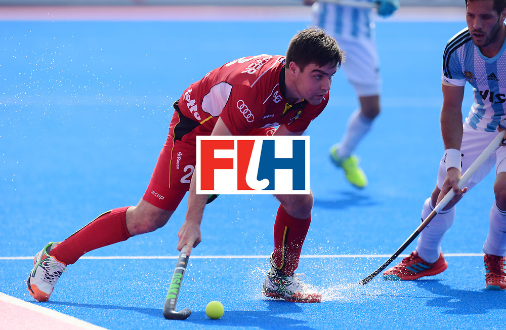 Odisha Men's Hockey World League Final Bhubaneswar 2017<br /> Match id:03<br /> Argentina v Belgium<br /> Foto: Arthur De Sloover (Bel) <br /> WORLDSPORTPICS COPYRIGHT FRANK UIJLENBROEK