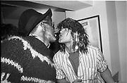 Magoo Giles; Edward Hicks, David Newall party, Earls Court. London. 13 February 1986.