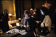 PEGGY SEIGAL; DAYANA TAMENDAROVA, Party to celebrate Vanity Fair's very British Hollywood issue. Hosted by Vanity Fair and Working Title. Beaufort Bar, Savoy Hotel. London. 6 Feb 2015
