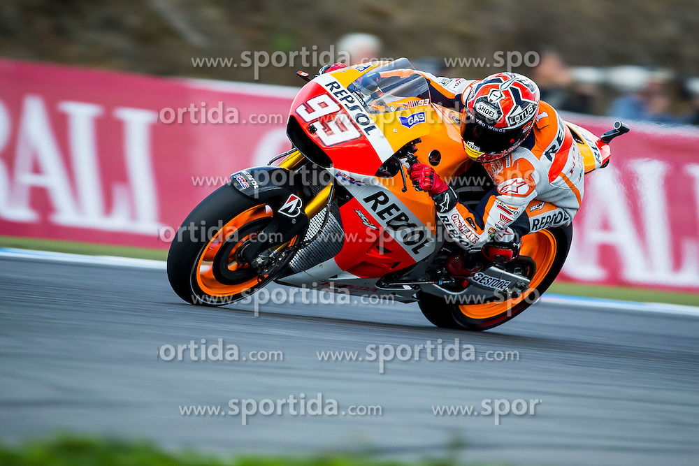 15.08.2014, Automotodrom, Brno, CZE, MotoGP, bwin Grand Prix Ceske Republiky, freies Training, im Bild Marc Marquez (Repsol Honda Team)  // during the FP1 of bwin Grand Prix Ceske Republiky of the MotoGP series at the Automotodrom in Brno, Czech Republic on 2014/08/15. EXPA Pictures &copy; 2014, PhotoCredit: EXPA/ Newspix/ Lukasz Skwiot / Foto Olimpik<br /> <br /> *****ATTENTION - for AUT, SLO, CRO, SRB, BIH, MAZ, TUR, SUI, SWE only*****