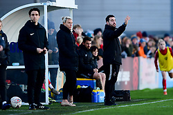 Tanya Oxtoby manager of Bristol City Women and Marco Chiavetta - Mandatory by-line: Ryan Hiscott/JMP - 19/01/2020 - FOOTBALL - Stoke Gifford Stadium - Bristol, England - Bristol City Women v Liverpool Women - Barclays FA Women's Super League