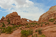 A naturaly formed Arch at Arches National Park. Utah, USA.