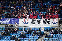 October 8, 2017 - Oslo, NORWAY - 171008  Fans of Norway during the FIFA World Cup Qualifier match between Norway and Northern Ireland on October 8, 2017 in Oslo..Photo: Jon Olav Nesvold / BILDBYRÃ…N / kod JE / 160041 (Credit Image: © Jon Olav Nesvold/Bildbyran via ZUMA Wire)