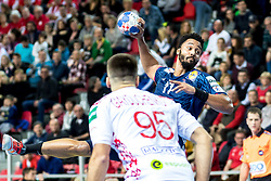 12.05.2017, Zatika Sport Centre, Porec, CRO, EHF EM, Herren, Frankreich vs Weissrussland, Gruppe B, im Bild Timothey N'Guessan (FRA) // during the preliminary round, group B match of the EHF men's Handball European Championship between France and Belarus at the Zatika Sport Centre in Porec, Croatia on 2017/05/12. EXPA Pictures © 2018, PhotoCredit: EXPA/ Sebastian Pucher