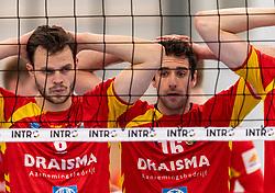 16-03-2019 NED: Sliedrecht Sport - Draisma Dynamo, Sliedrecht<br /> Round 5 of champion pool Eredivisie - Dynamo win 3-1 of Sliedrecht / Freek de Weijer #8 of Dynamo, Mats Kruiswijk #16 of Dynamo