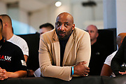 Johnny Nelson watches on during the Kell Brook vs Mark DeLuca Weigh-In at the Millennium Gallery, Arundel Gate, Sheffield, United Kingdom on 7 February 2020.