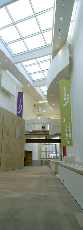 Vertical view of the National museum of Scotland in chambers street, Edinburgh, Scotland
