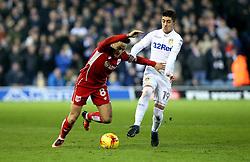 Josh Brownhill of Bristol City goes past Pablo Hernandez of Leeds United - Mandatory by-line: Robbie Stephenson/JMP - 14/02/2017 - FOOTBALL - Elland Road - Leeds, England - Leeds United v Bristol City - Sky Bet Championship