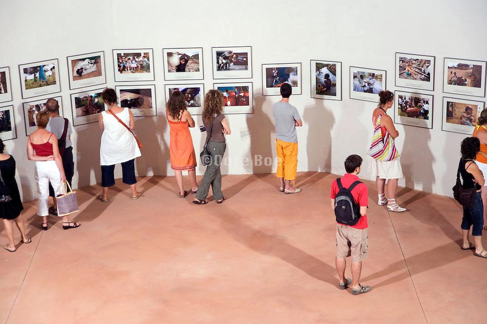 Perpignan Visa Pour L'Image 2007 Couvent des Minimus showing photographs by Carolyn Cole