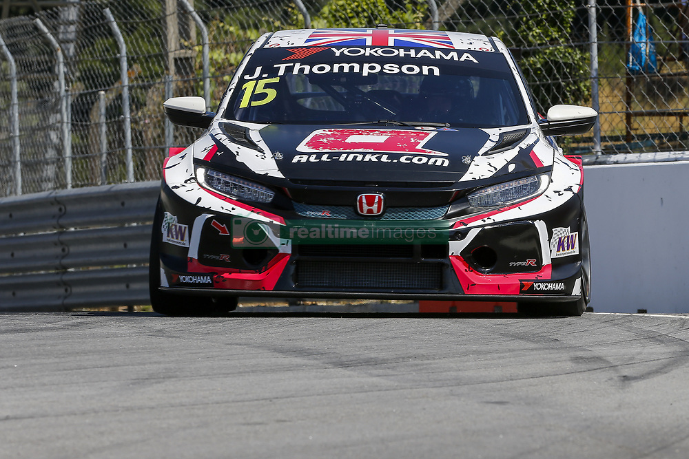 June 23, 2018 - Vila Real, Vila Real, Portugal - James Thompson from Great Britain in Honda Civic Type R TCR of ALL-INKL.COM Munnich Motorsport during the Race 1 of FIA WTCR 2018 World Touring Car Cup Race of Portugal, Vila Real, June 23, 2018. (Credit Image: © Dpi/NurPhoto via ZUMA Press)