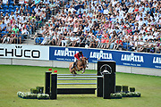 Luciana DINIZ (POR) riding Fit For Fun during the World Equestrian Festival, CHIO of Aachen 2018, on July 13th to 22th, 2018 at Aachen - Aix la Chapelle, Germany - Photo Christophe Bricot / ProSportsImages / DPPI