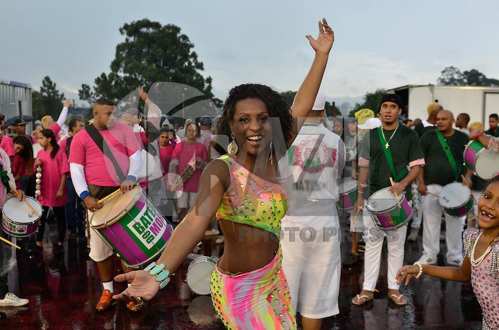 SÃO PAULO, SP, 12 DE JANEIRO DE 2013 - ENSAIO TÉCNICO MORRO DA CASA VERDE - Ensaio técnico da Escola de Samba Morro da Casa Verde na preparação para o Carnaval 2013. O ensaio foi realizado neste sábado (12) no Sambódromo do Anhembi, zona norte da cidade. FOTO LEVI BIANCO - BRAZIL PHOTO PRESS