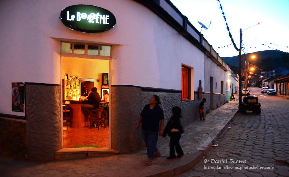 La Boaeme restaurant bar in Samaipata, Santa Cruz, Bolivia