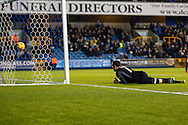Picture by David Horn/Focus Images Ltd +44 7545 970036<br /> 03/12/2013<br /> David Forde of Millwall looks on as he's unable to prevent Andy Reid of Nottingham Forest scoring to make it 1-1  during the Sky Bet Championship match at The Den, London.