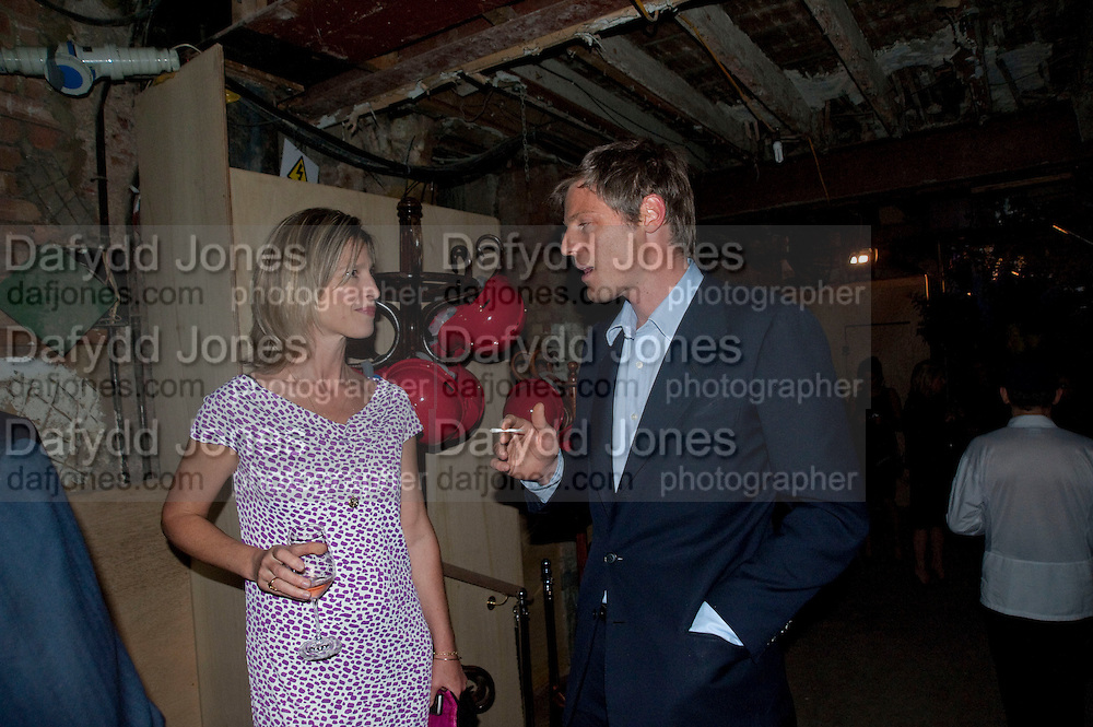 NICOLA FORNBY; ZAC GOLDSMITH, Early launch of Rupert's. Robin Birley  new premises in Shepherd Market. 6 Hertford St. London. 10 June 2010. .-DO NOT ARCHIVE-© Copyright Photograph by Dafydd Jones. 248 Clapham Rd. London SW9 0PZ. Tel 0207 820 0771. www.dafjones.com.