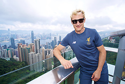 HONG KONG, CHINA - Friday, July 21, 2017: Liverpool legend Sami Hyypia visits Victoria Peak to see the views of Hong Kong harbour during day five of the Premier League Asia Trophy 2017. (Pic by David Rawcliffe/Propaganda)