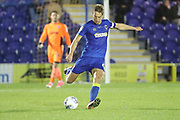 AFC Wimbledon defender Paul Robinson (6) clearing the ball during the EFL Trophy match between AFC Wimbledon and Tottenham Hotspur at the Cherry Red Records Stadium, Kingston, England on 3 October 2017. Photo by Matthew Redman.