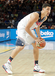 02.09.2014, City Arena, Bilbao, ESP, FIBA WM, USA vs Neuseeland, im Bild USA's Klay Thompson // during FIBA Basketball World Cup Spain 2014 match between USA and New Zealand at the City Arena in Bilbao, Spain on 2014/09/02. EXPA Pictures © 2014, PhotoCredit: EXPA/ Alterphotos/ Acero<br /> <br /> *****ATTENTION - OUT of ESP, SUI*****