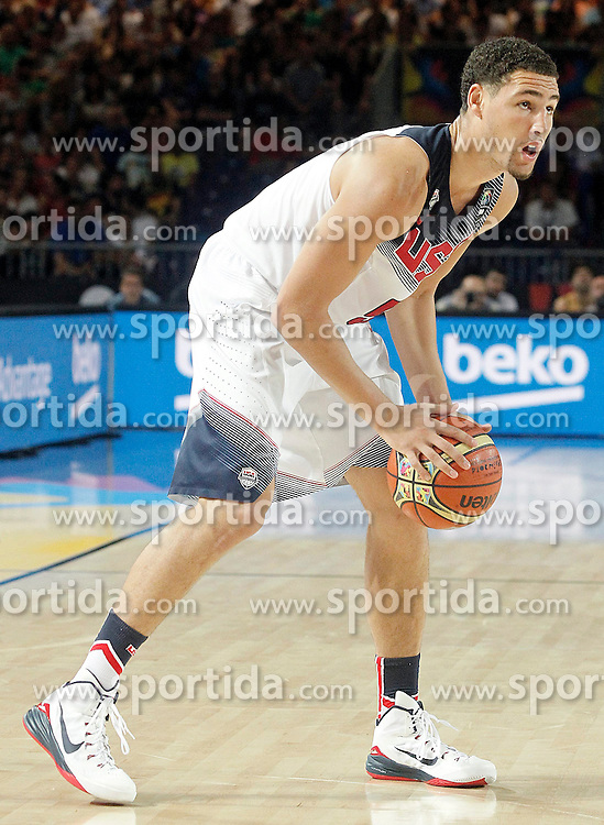 02.09.2014, City Arena, Bilbao, ESP, FIBA WM, USA vs Neuseeland, im Bild USA's Klay Thompson // during FIBA Basketball World Cup Spain 2014 match between USA and New Zealand at the City Arena in Bilbao, Spain on 2014/09/02. EXPA Pictures &copy; 2014, PhotoCredit: EXPA/ Alterphotos/ Acero<br /> <br /> *****ATTENTION - OUT of ESP, SUI*****