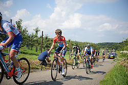 Christine Majerus in the break on lap two at Boels Rental Ladies Tour Stage 6 a 159.7 km road race staring and finishing in Sittard, Netherlands on September 3, 2017. (Photo by Sean Robinson/Velofocus)