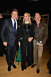 Left to right, ROD BARKER, TANIA BRYER and PATRICK COX at the Christie's Conservation Lectures in aid of Tusk held atChristie's, 8 King Street, London on 30th April 2014.