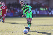 Forest Green Rovers Charlie Cooper(15) during the EFL Sky Bet League 2 match between Accrington Stanley and Forest Green Rovers at the Wham Stadium, Accrington, England on 17 March 2018. Picture by Shane Healey.